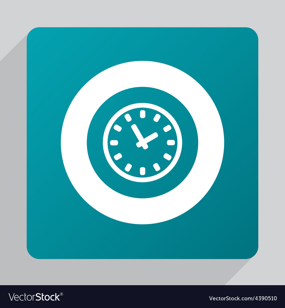 Flat time icon vector | Price: 1 Credit (USD $1)