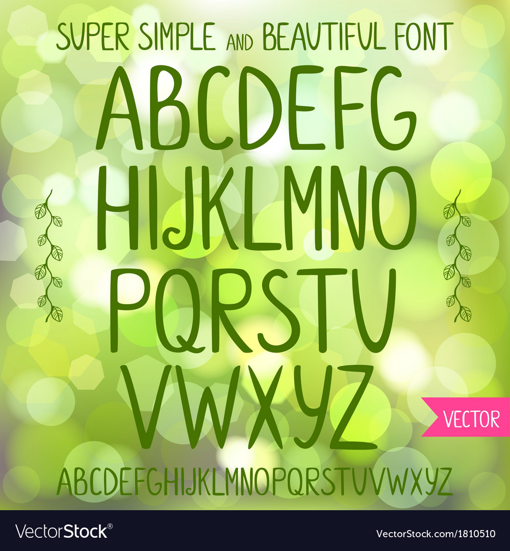 Font vector | Price: 1 Credit (USD $1)