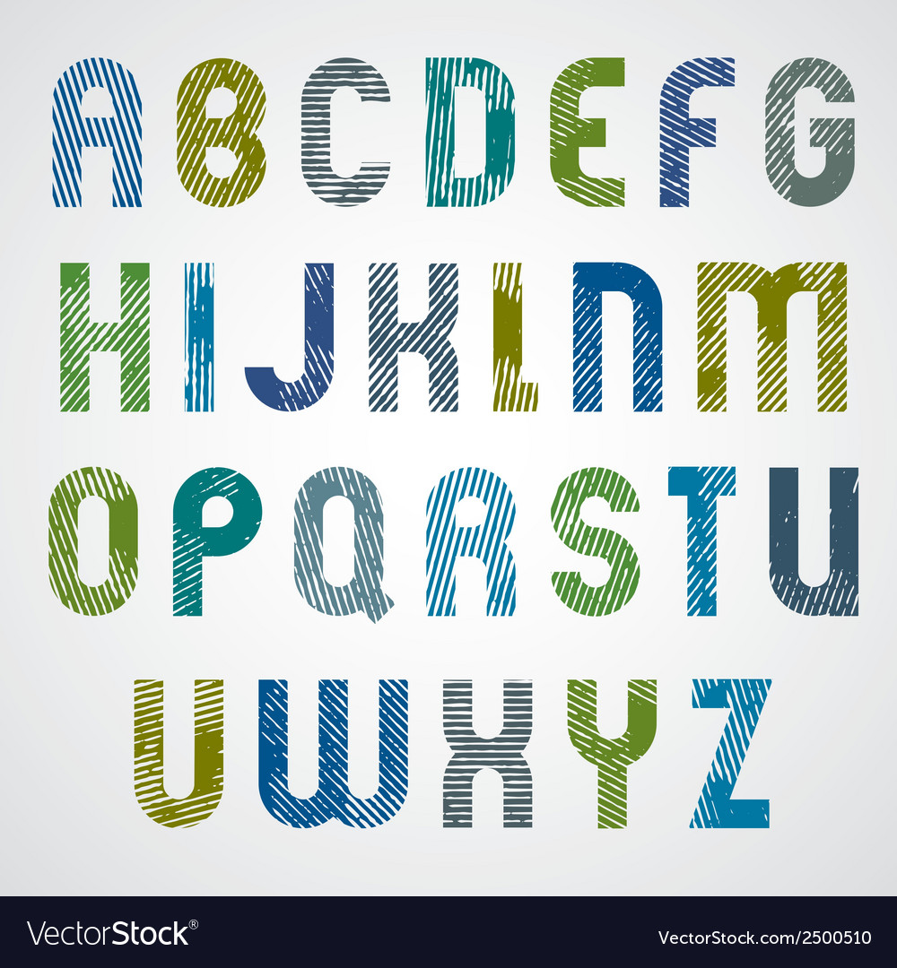 Grunge colorful rubbed upper case letters vector | Price: 1 Credit (USD $1)