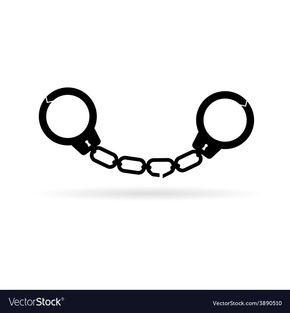 Handcuffs black vector | Price: 1 Credit (USD $1)
