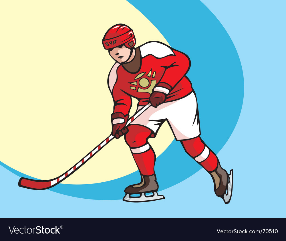 Hockey player vector | Price: 1 Credit (USD $1)