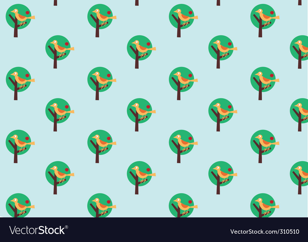 Retro wallpaper pattern vector | Price: 1 Credit (USD $1)