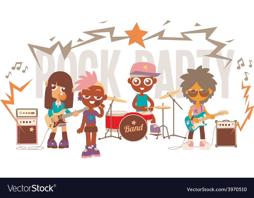 Rock band show vector | Price: 1 Credit (USD $1)