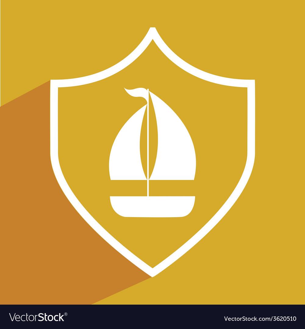 Sail boat vector | Price: 1 Credit (USD $1)