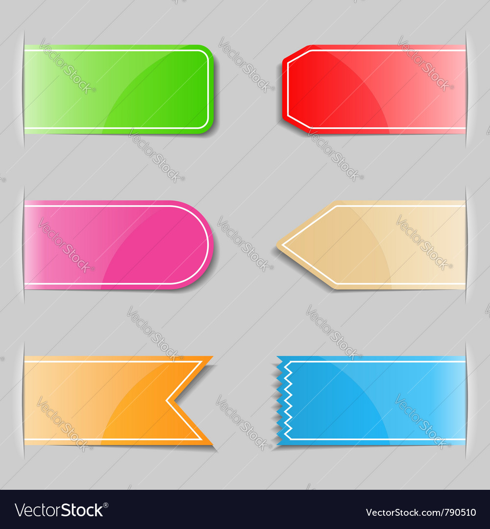 Tabs vector | Price: 1 Credit (USD $1)