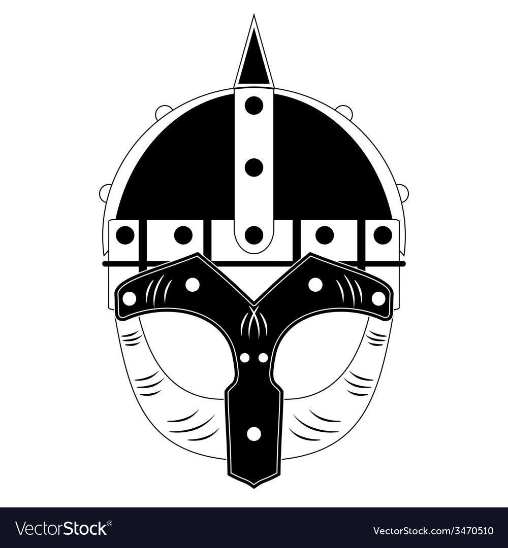 Viking helmet vector | Price: 1 Credit (USD $1)