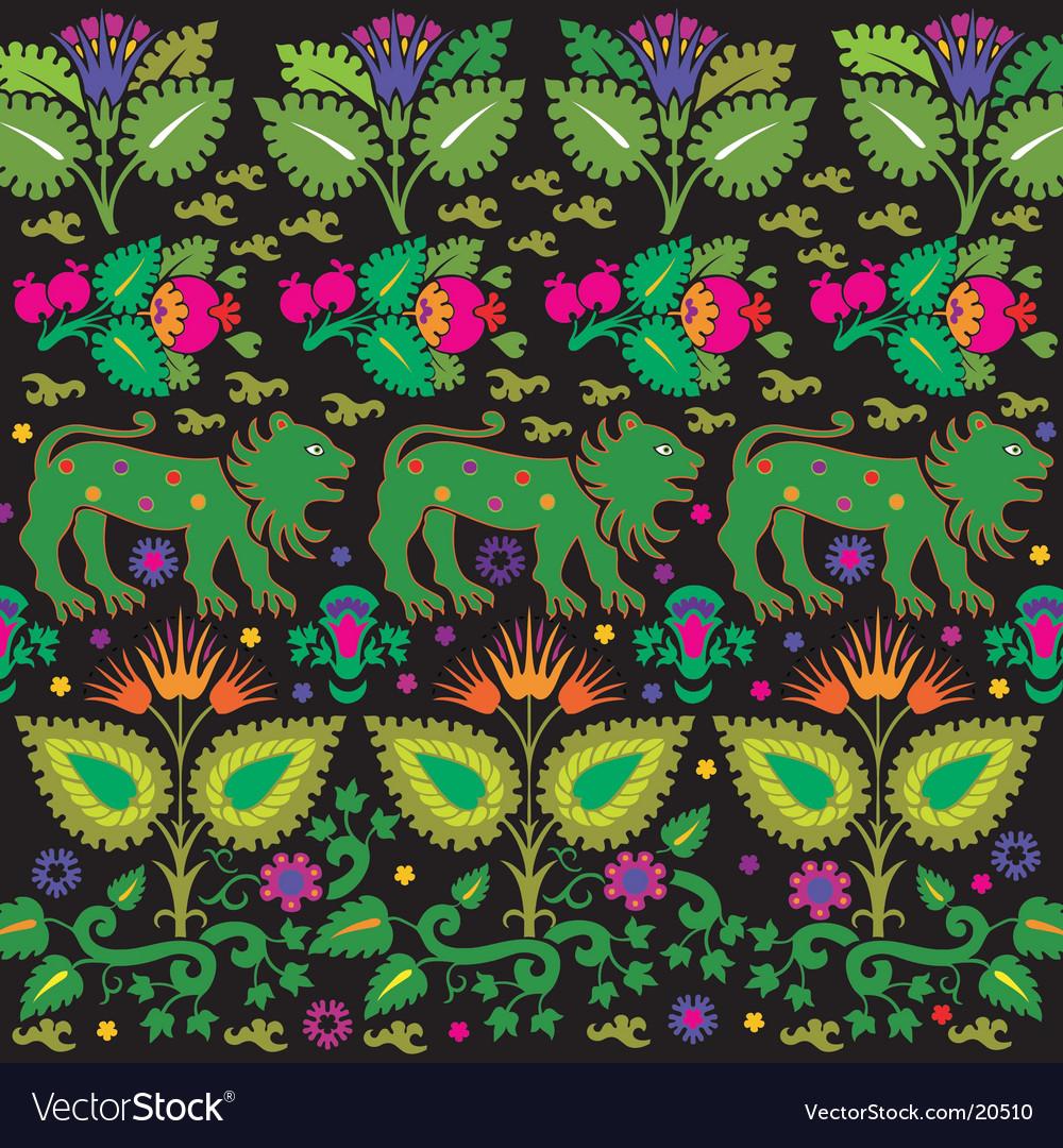 Vintage floral design vector | Price: 1 Credit (USD $1)