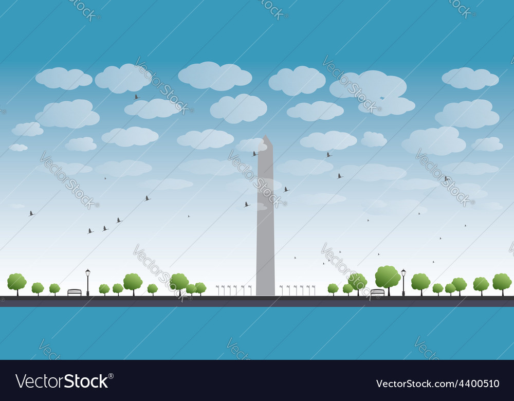 Washington monument vector | Price: 1 Credit (USD $1)