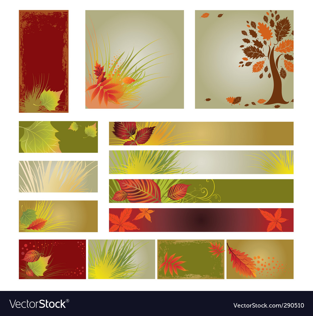 Web design banners vector | Price: 1 Credit (USD $1)