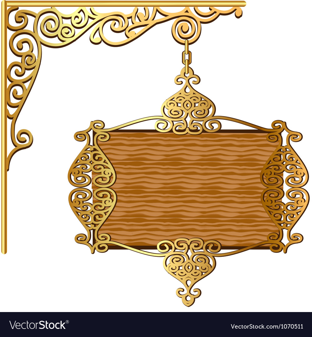 Board forged gold ornament for posts vector | Price: 1 Credit (USD $1)