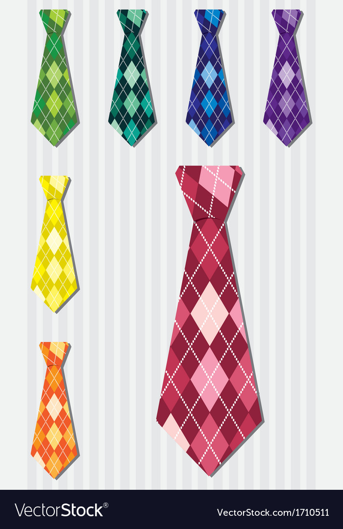 Bright plaid silk tie stickers in format vector | Price: 1 Credit (USD $1)