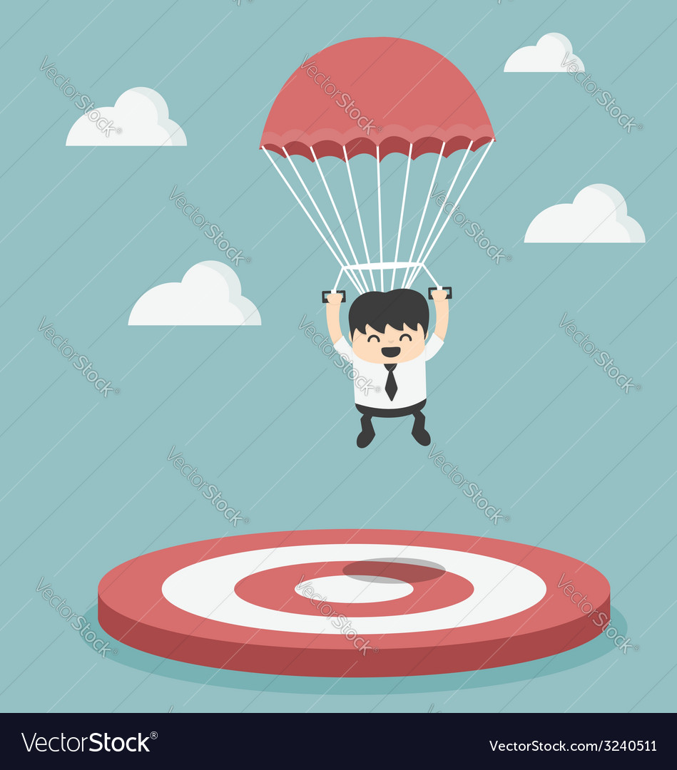 Businessman focused on a target vector | Price: 1 Credit (USD $1)