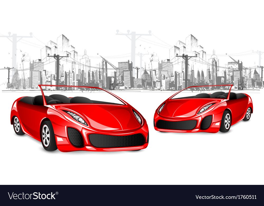 Car on cityscape background vector | Price: 1 Credit (USD $1)