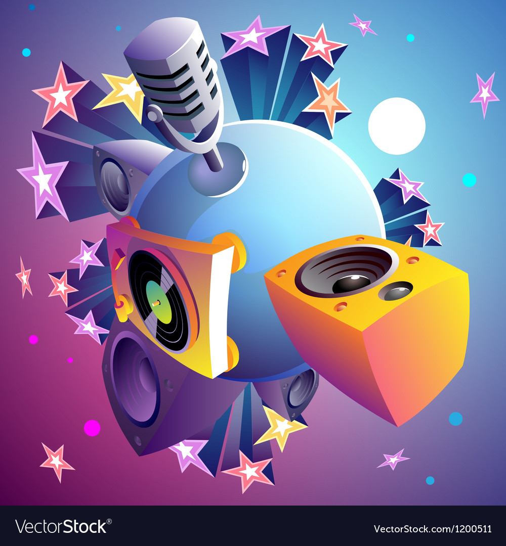 Disco party planet vector | Price: 1 Credit (USD $1)