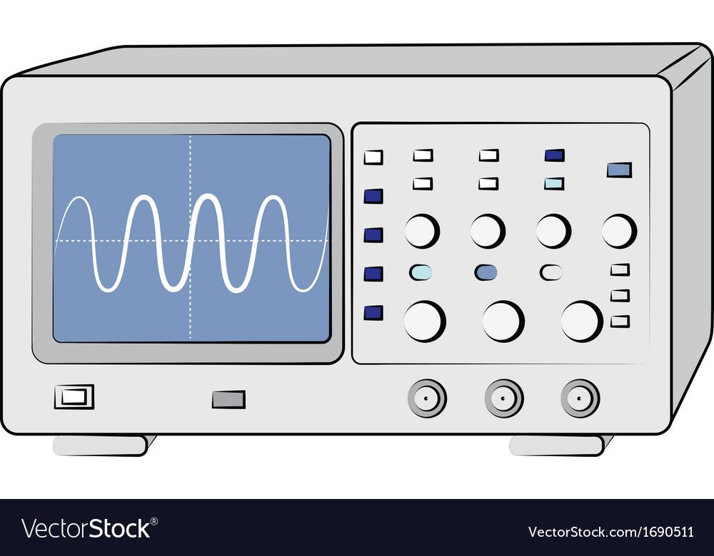 Oscilloscope vector | Price: 1 Credit (USD $1)