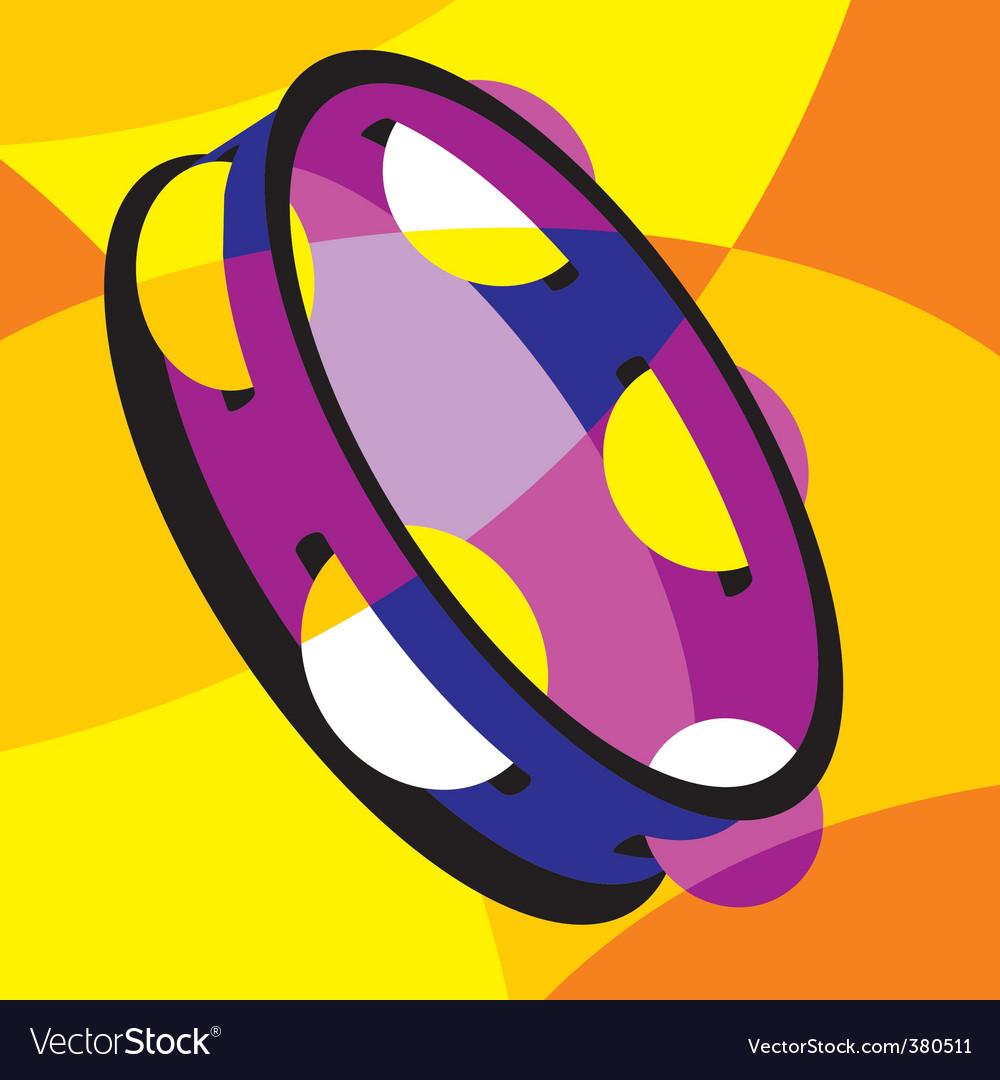 Tambourine vector   Price: 1 Credit (USD $1)