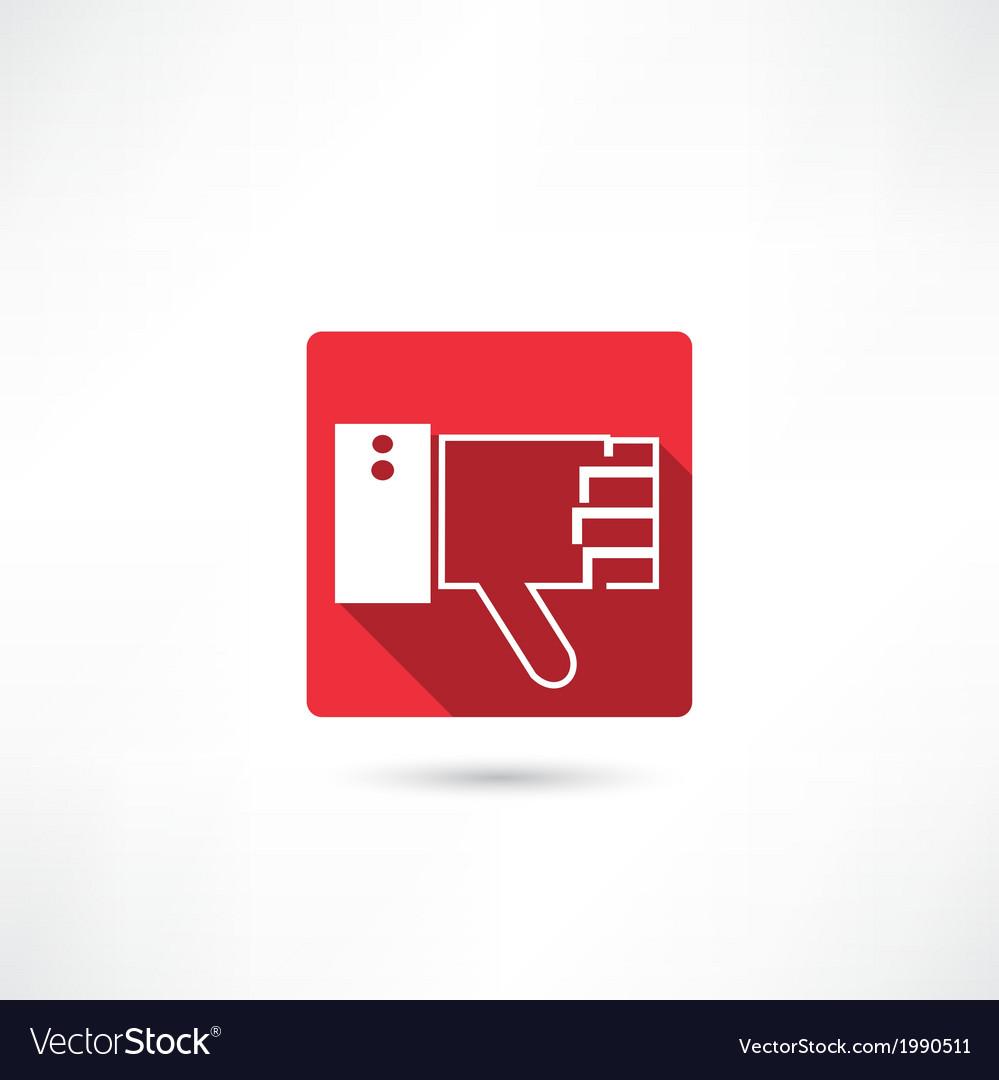 Thumb down icon vector | Price: 1 Credit (USD $1)