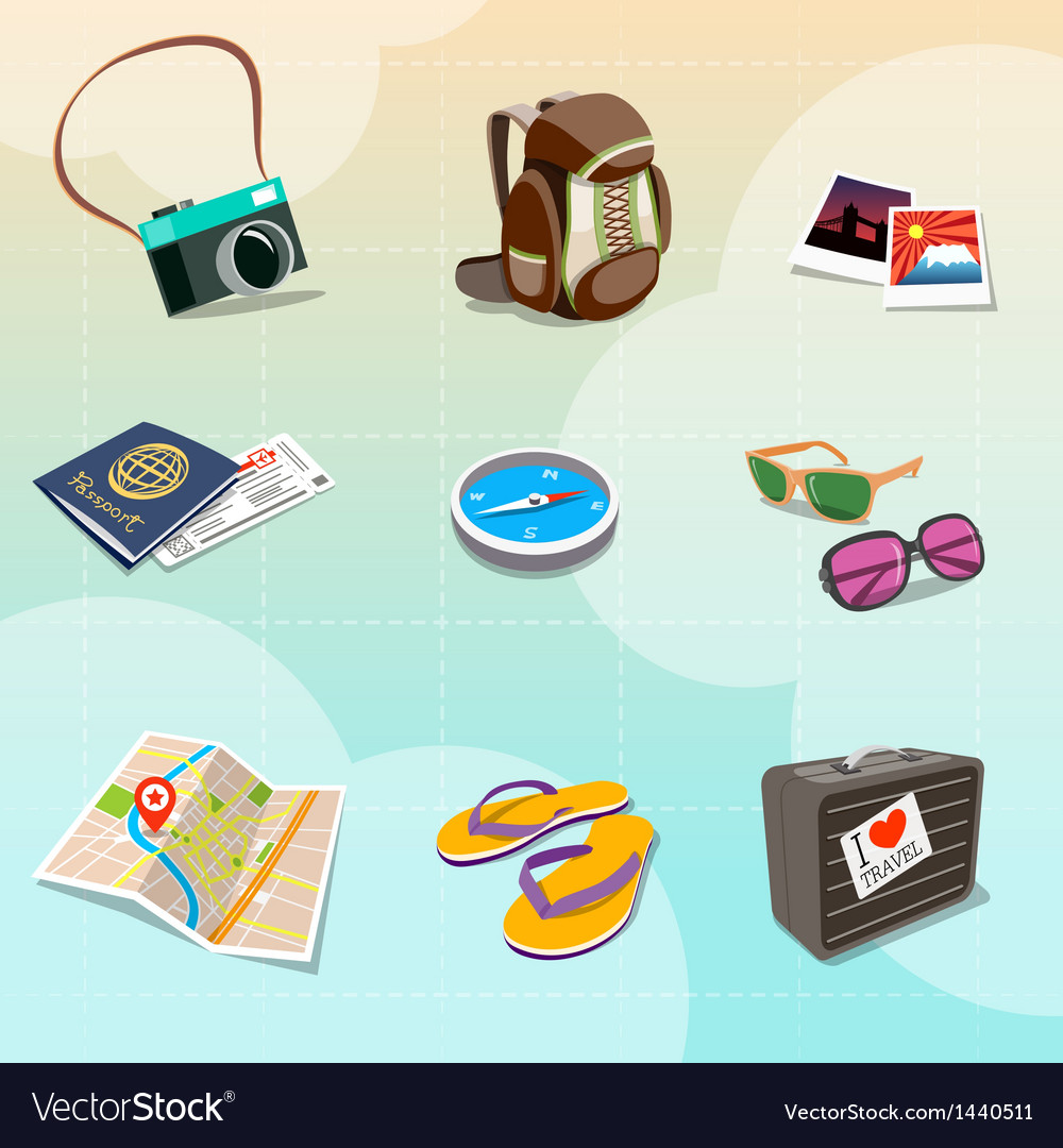 Travel clipart vector | Price: 3 Credit (USD $3)