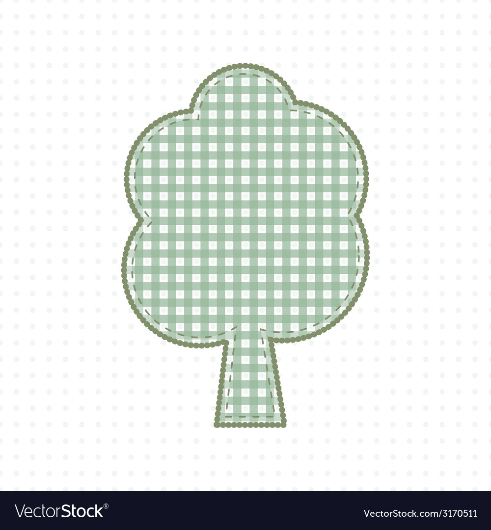 Tree of fabric handcraft cute baby style vector | Price: 1 Credit (USD $1)