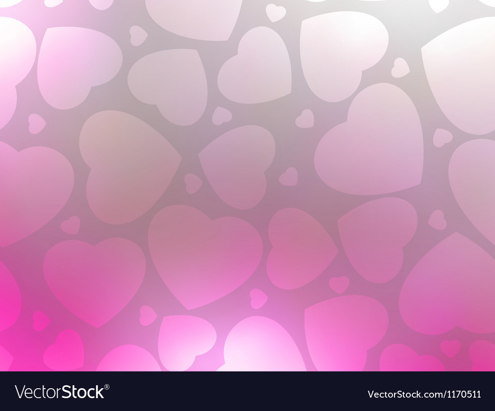 Valentine hearts pink stvalentines day eps 8 vector | Price: 1 Credit (USD $1)