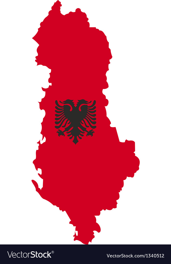 Albania map vector | Price: 1 Credit (USD $1)