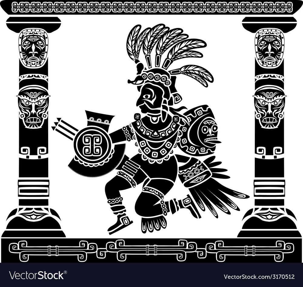 Aztec god quetzalcoatl vector | Price: 1 Credit (USD $1)