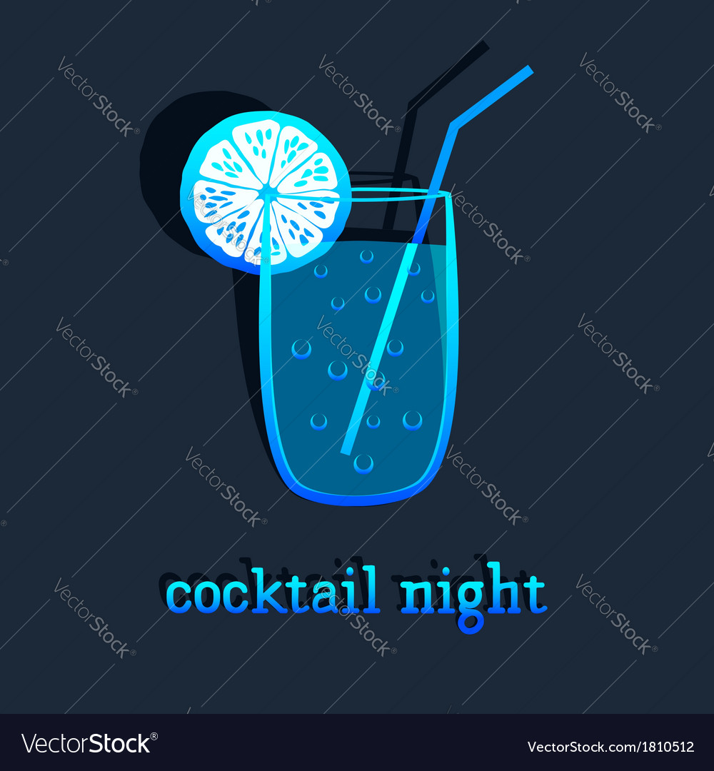 Background with cocktail vector | Price: 1 Credit (USD $1)