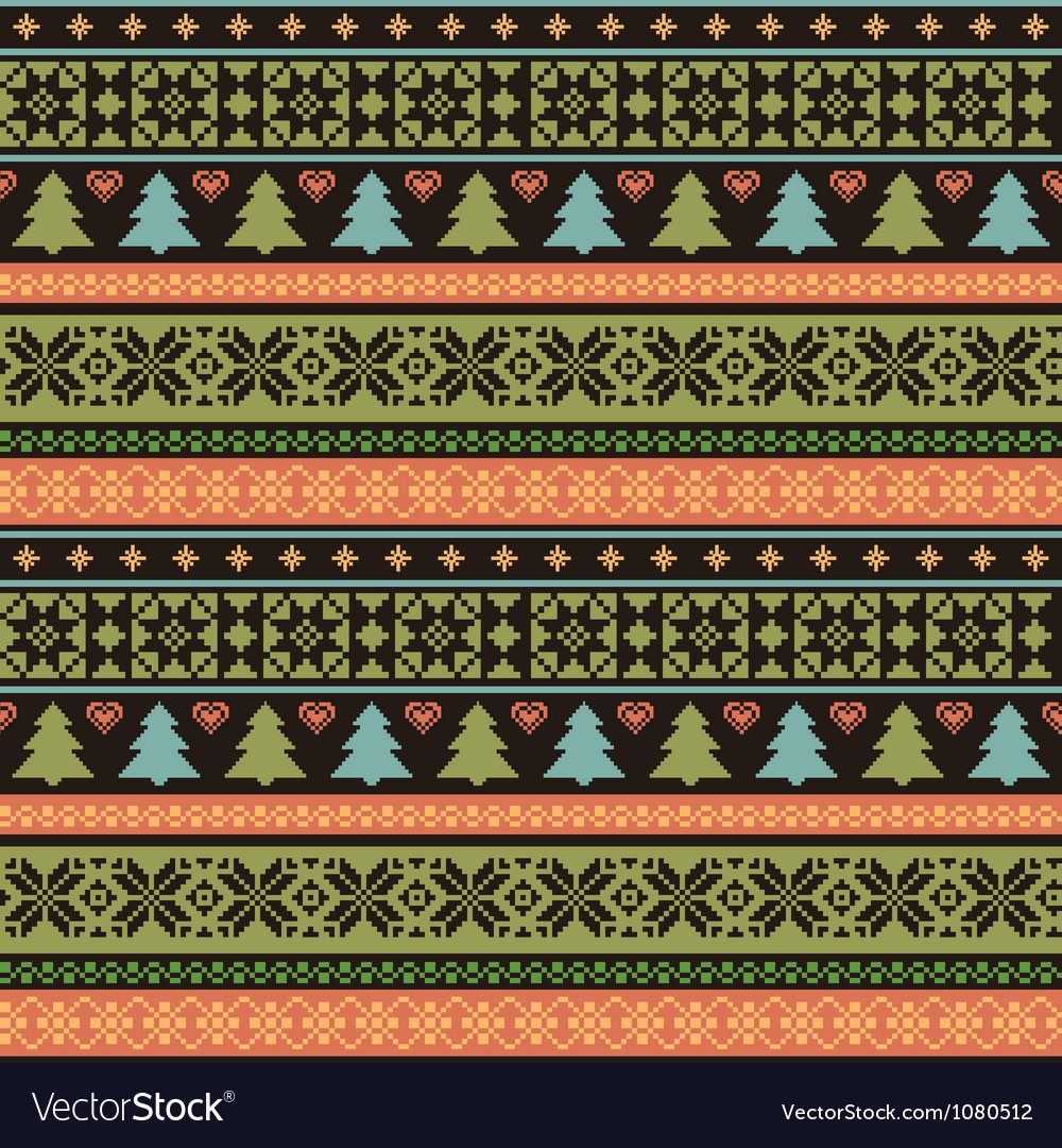 Christmas knitted pattern vector | Price: 1 Credit (USD $1)