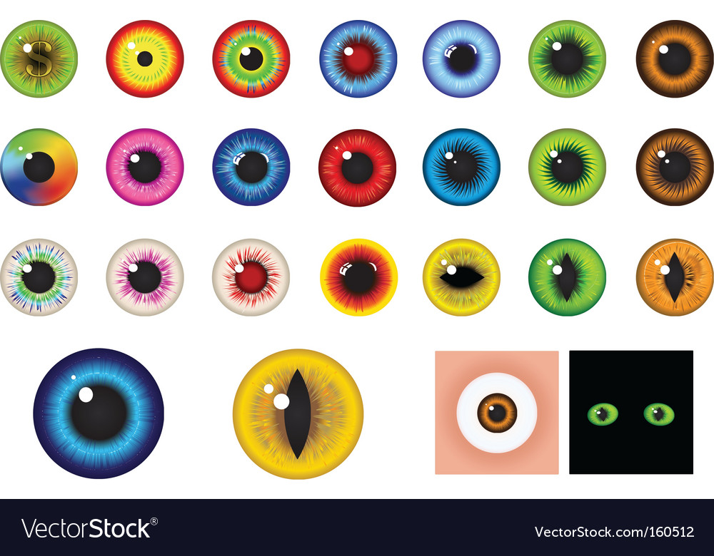 Eyes design elements vector | Price: 1 Credit (USD $1)