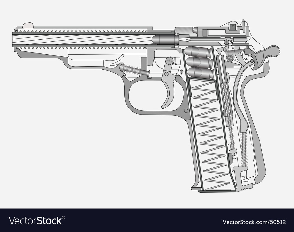 Gun illustration vector | Price: 1 Credit (USD $1)