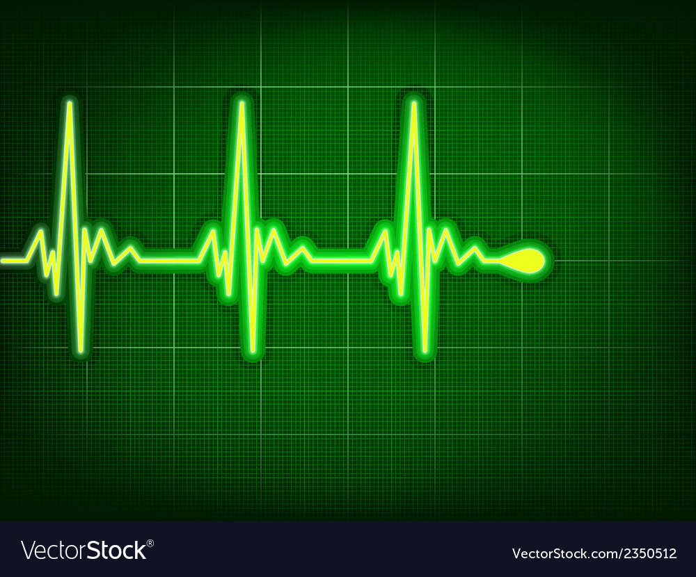 Heart cardiogram on it deep green eps 8 vector | Price: 1 Credit (USD $1)