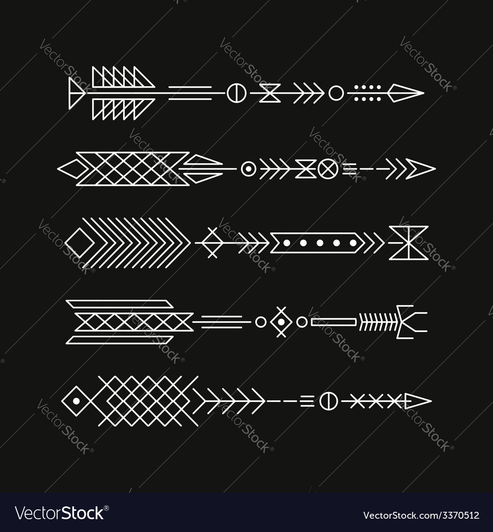 Hipster arrows abstract elements for tattoo and vector | Price: 1 Credit (USD $1)