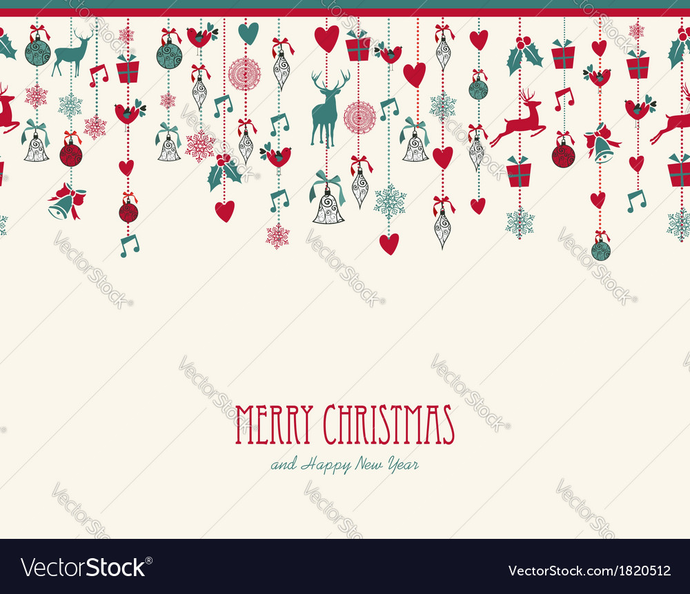 Merry christmas hanging elements decoration vector | Price: 1 Credit (USD $1)