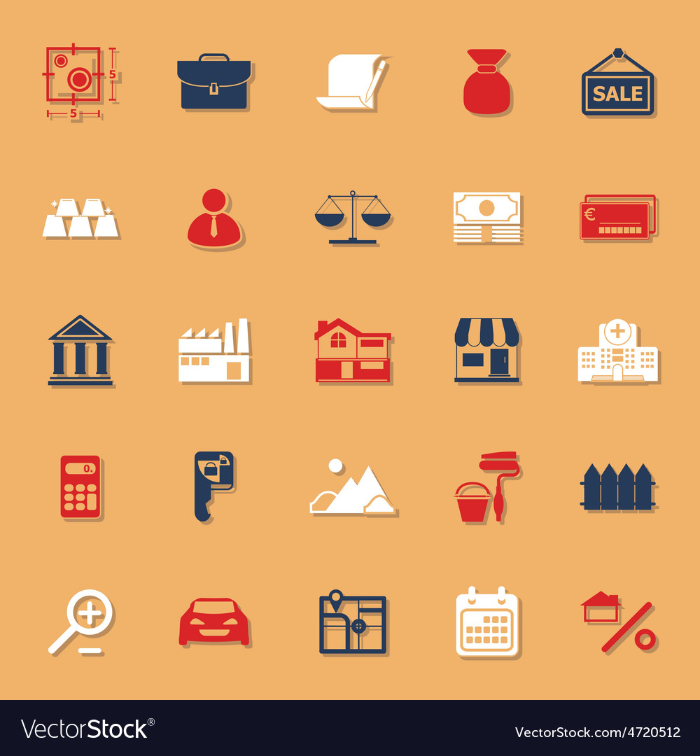 Mortgage and home loan classic color icons with vector | Price: 1 Credit (USD $1)