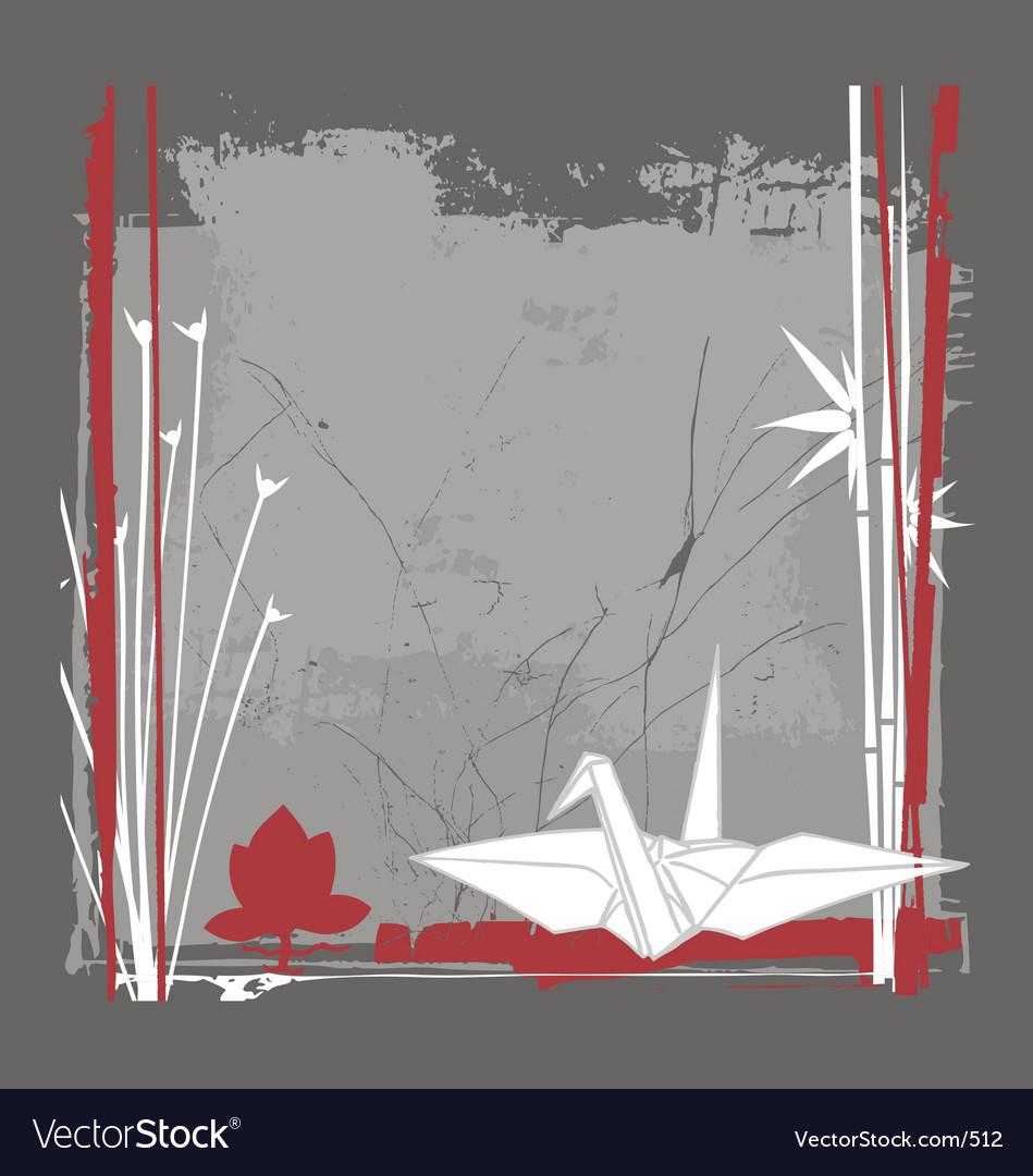 Still life with crane vector | Price: 1 Credit (USD $1)