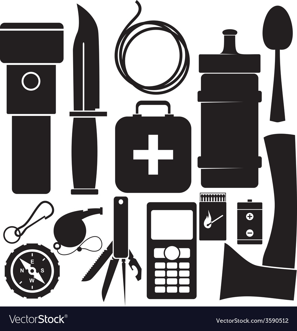 Survival kit vector | Price: 1 Credit (USD $1)