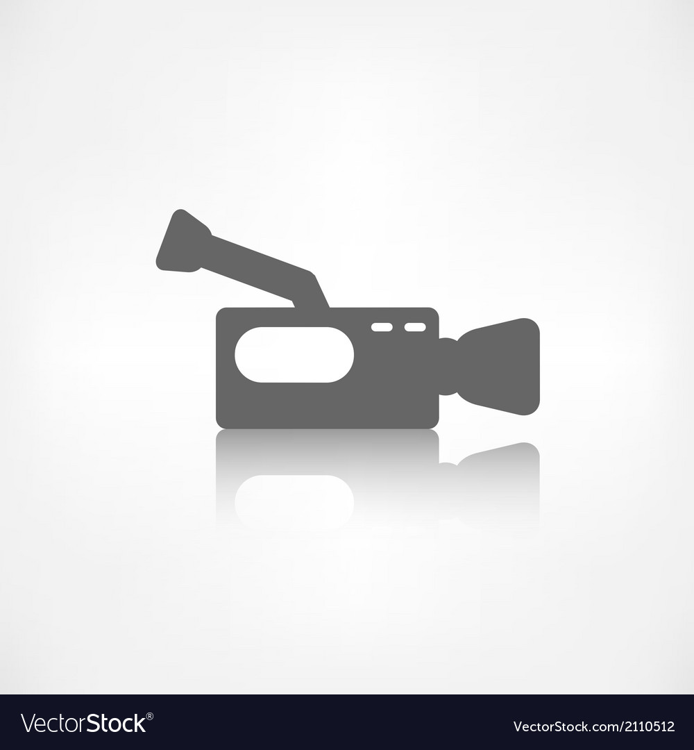 Video camera icon media symbol vector | Price: 1 Credit (USD $1)