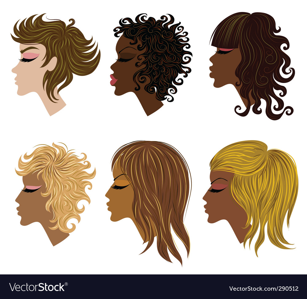 Woman hair vector | Price: 1 Credit (USD $1)
