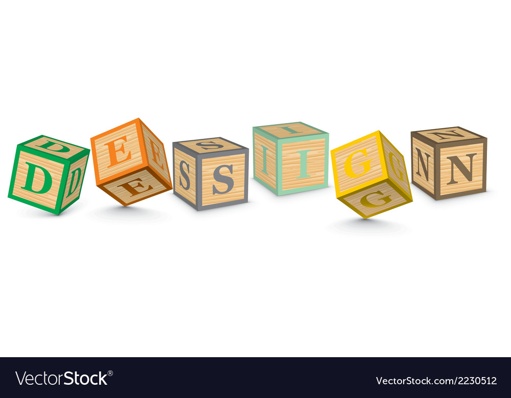 Word design written with alphabet blocks vector | Price: 1 Credit (USD $1)