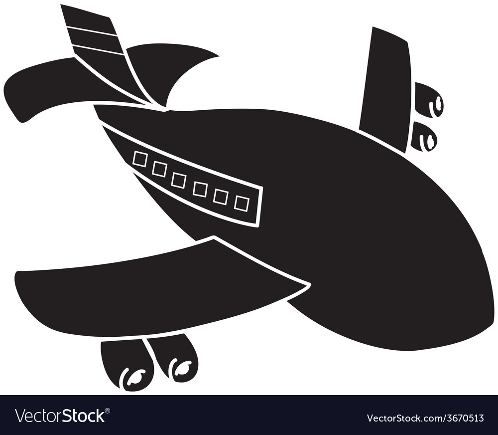Airplane isolated vector | Price: 1 Credit (USD $1)