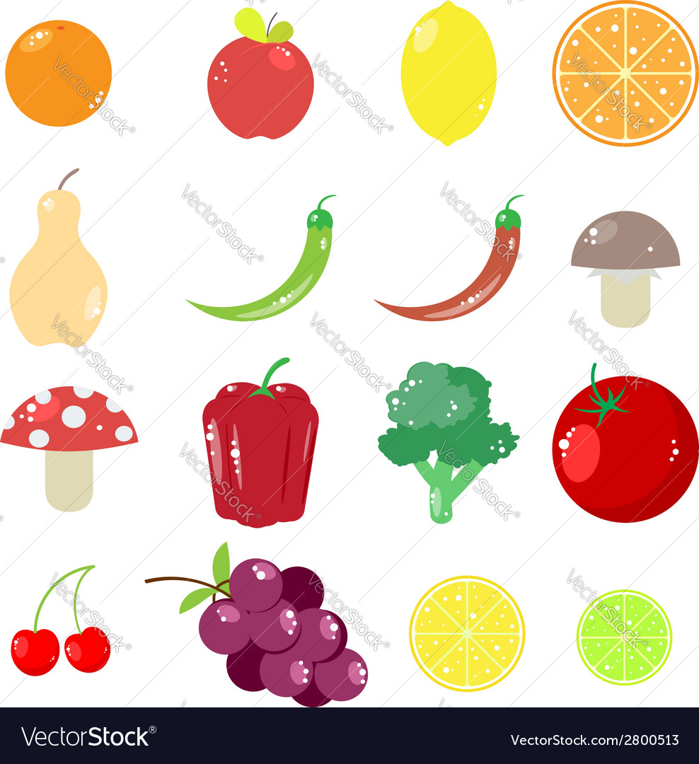 Fruits and vegetables vector | Price: 1 Credit (USD $1)