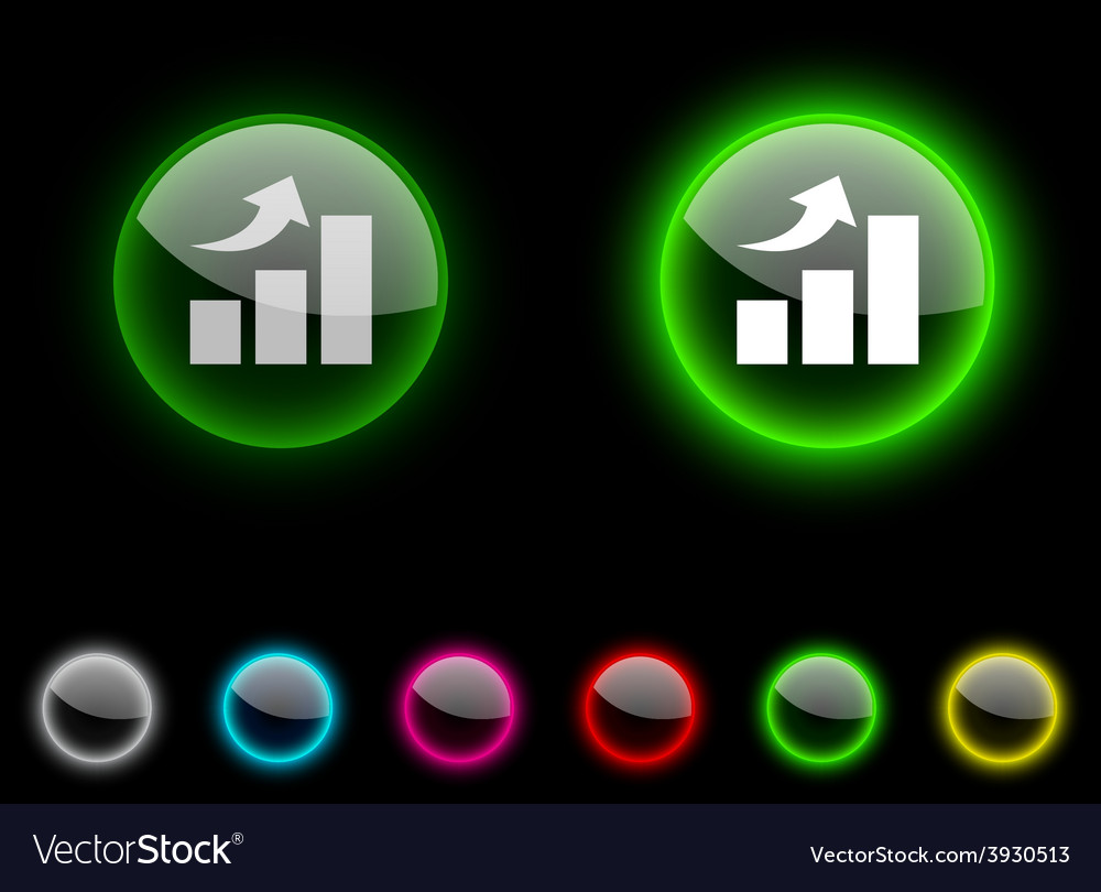 Growth button vector | Price: 1 Credit (USD $1)