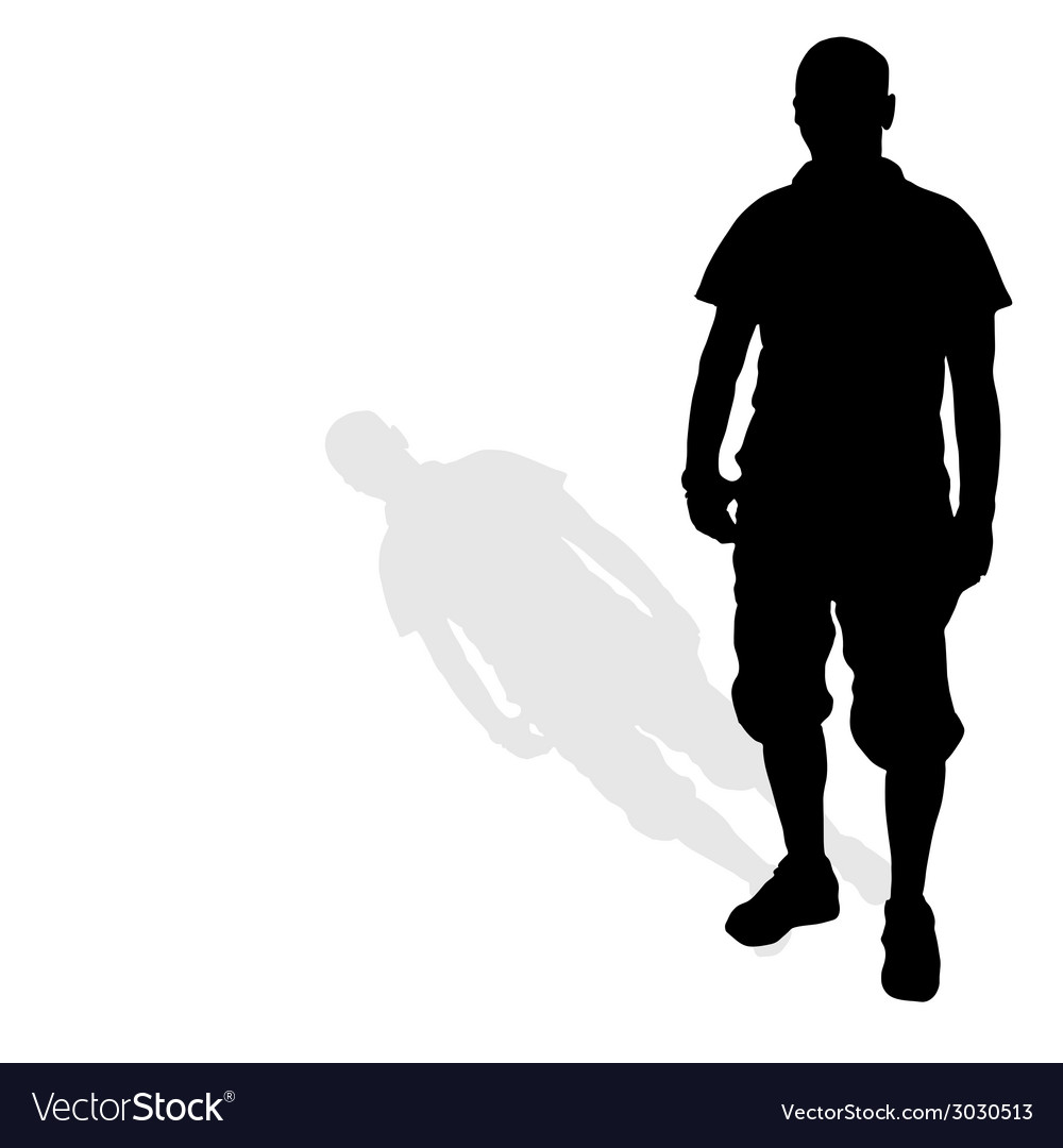 Man standing silhouette black vector | Price: 1 Credit (USD $1)