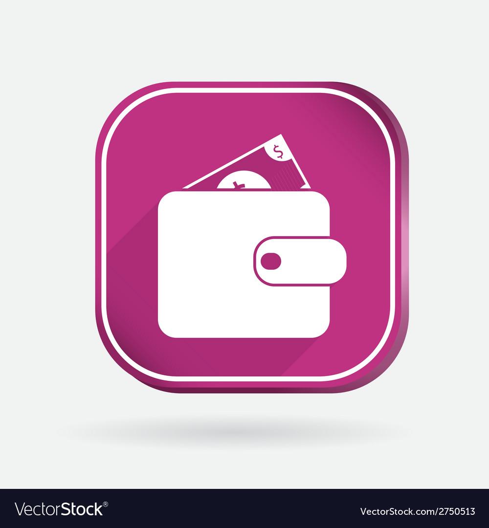 Purse sign color square icon vector | Price: 1 Credit (USD $1)