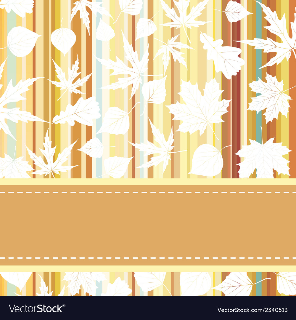 Retro pattern with autumn leafs eps 8 vector | Price: 1 Credit (USD $1)