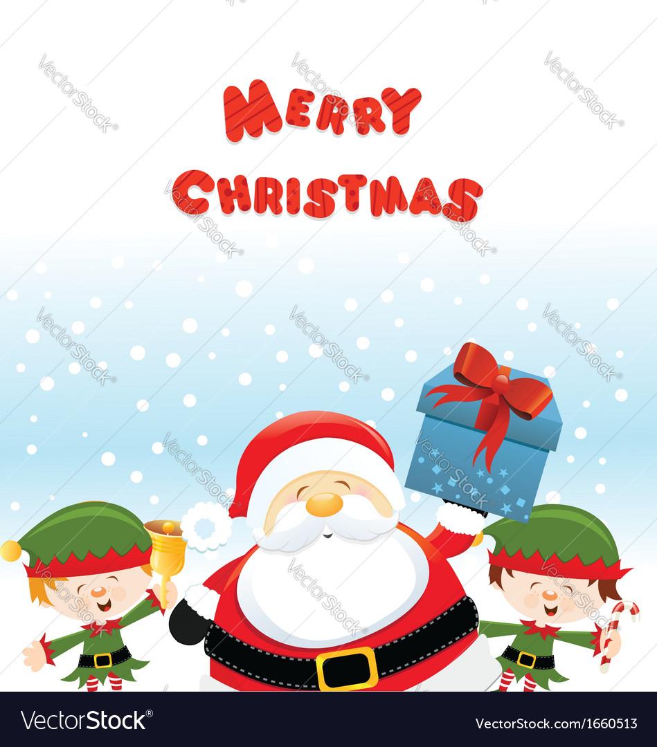 Santa with elf vector | Price: 1 Credit (USD $1)