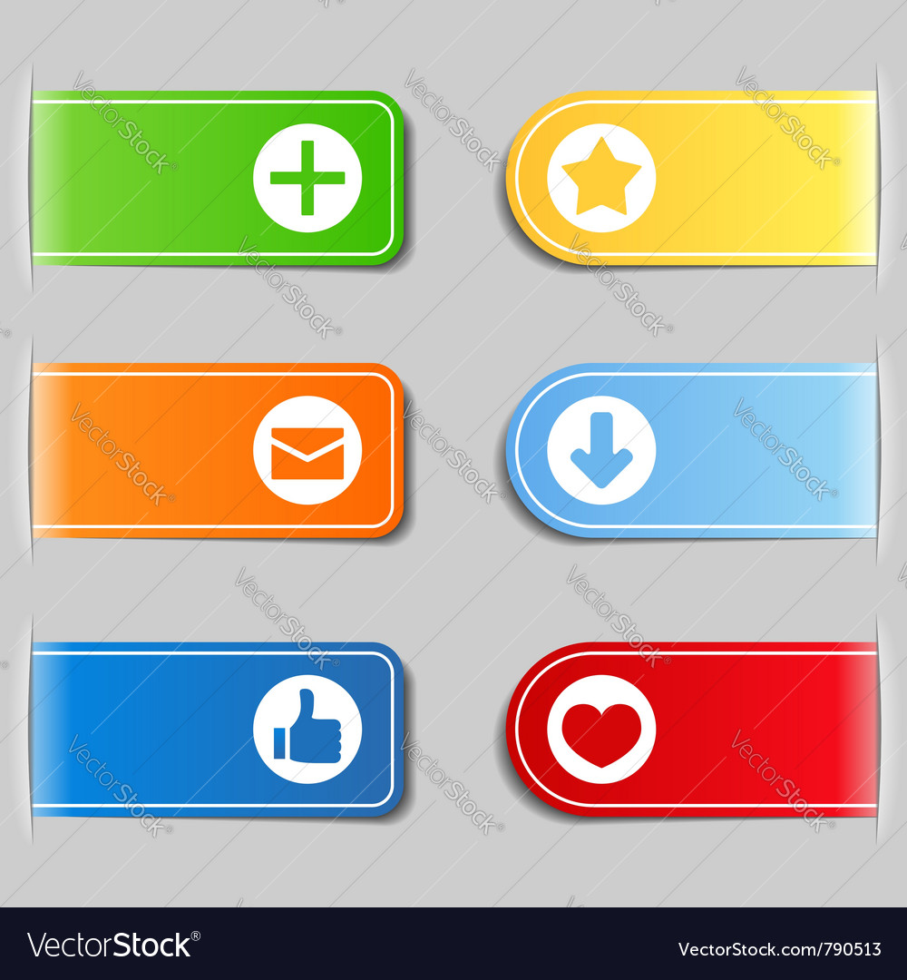 Tabs with icons vector | Price: 1 Credit (USD $1)