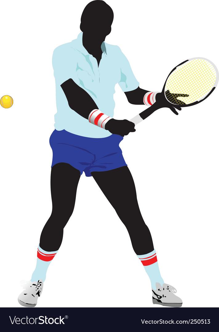 Tennis man vector | Price: 1 Credit (USD $1)