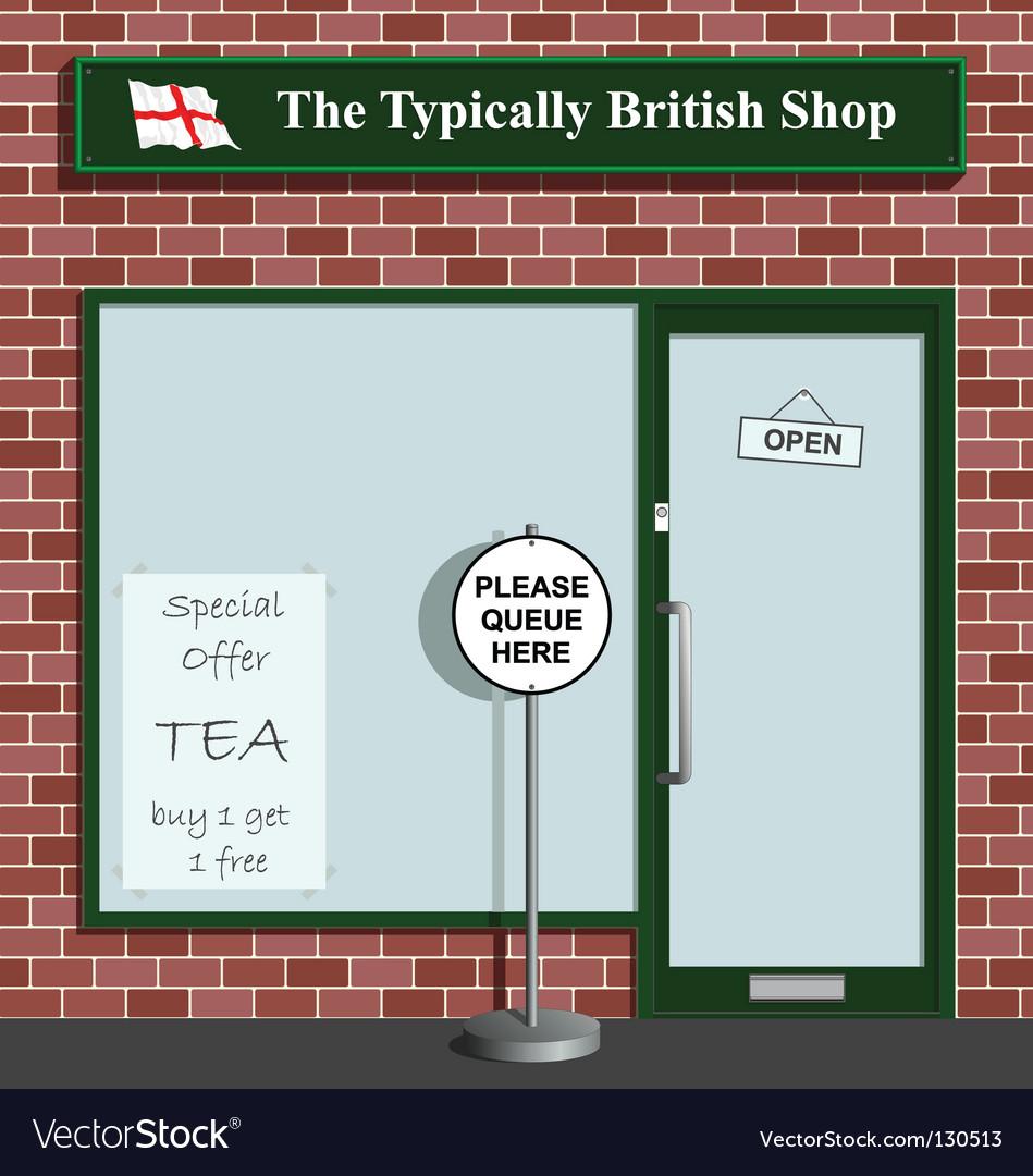 Typically british shop vector | Price: 1 Credit (USD $1)