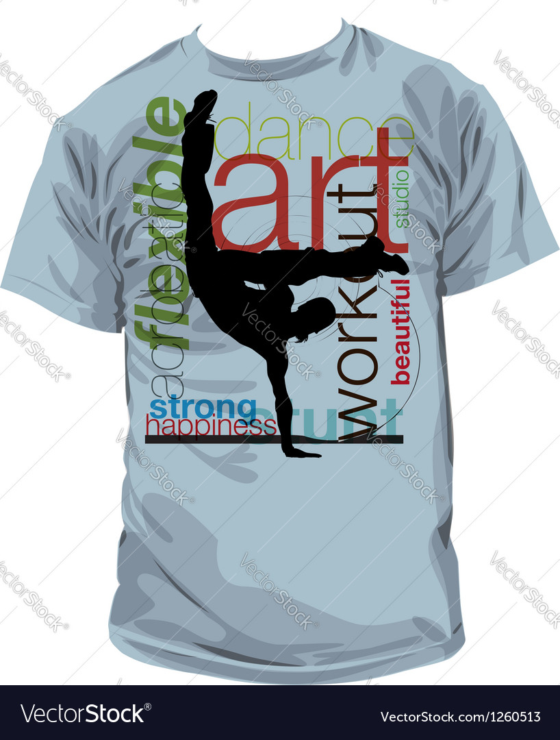 Yoga tshirt vector